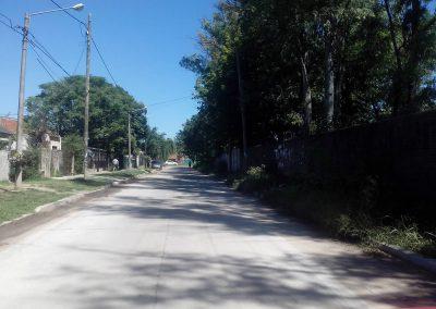 Pavimentación calle Ecuador, Moreno